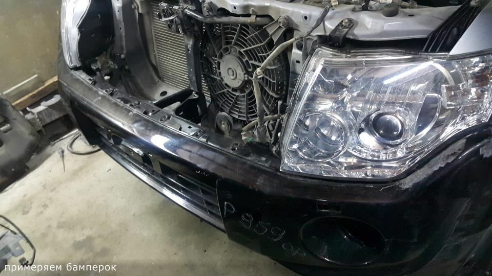 Ремонт Pajero 4 2012 рестайлинг после ДТП Aeeeab935670