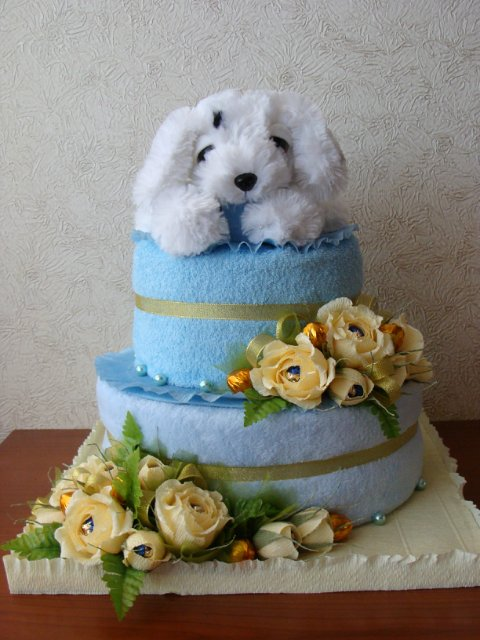 Тортик из памперсов 4e652e7e053d