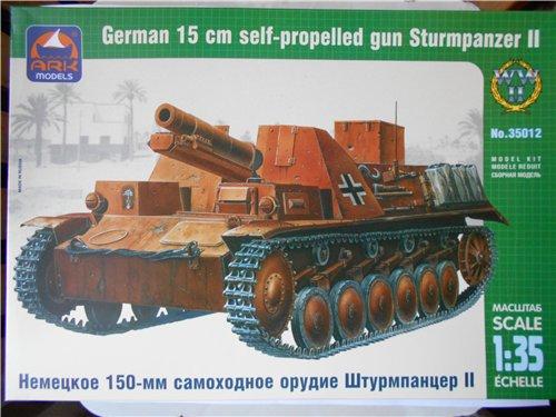 Немецкое 150-мм самоходное орудие Штурмпанцер II 1/35 (Арк модел) Ccab65d49944
