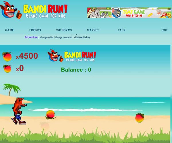 bandirun.com - игра с накопительным краном в 40 сатоши каждые 5 мин. 35112bf7ec77