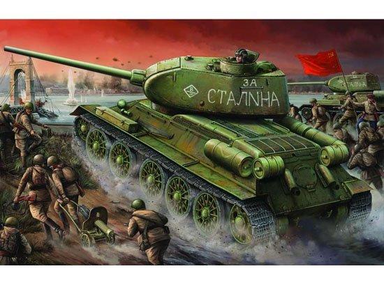 Т-34/85 model 1944г. Factory №. 174 маштаб 1/16 Trumpeter 58f424742828