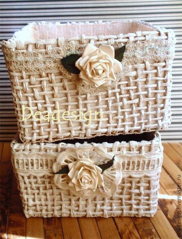 Коробочки, корзинки, шкатулочки, упаковки   4b7340e61298