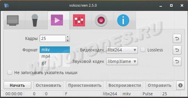 Vokoscreen - программа захвата видео с экрана в Linux Da26e419ce9a
