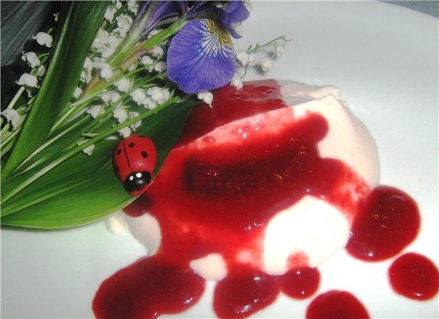 Йогуртовая панна котта с ягодным соусом 98fb2780811b