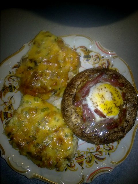 Мясо (любое) с грибами под нежной, хрустящей корочкой 1c2b792a4429