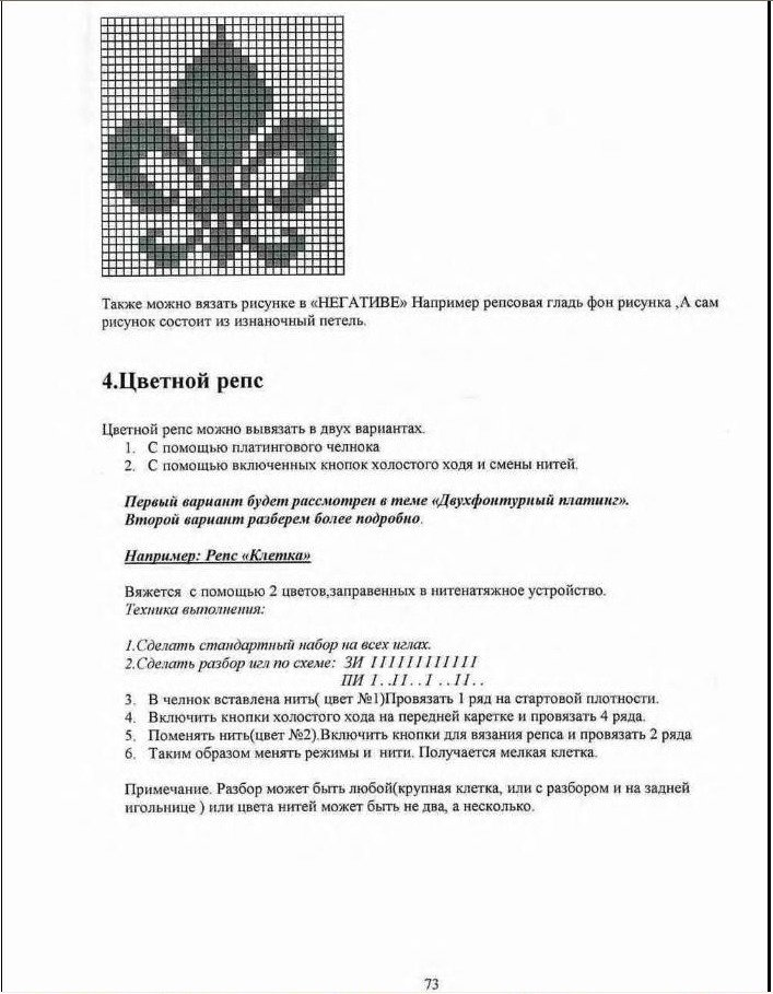 Начальный курс по обучению вязания на вязальной машине SILVER REED   - Страница 2 1f7176c50fe6