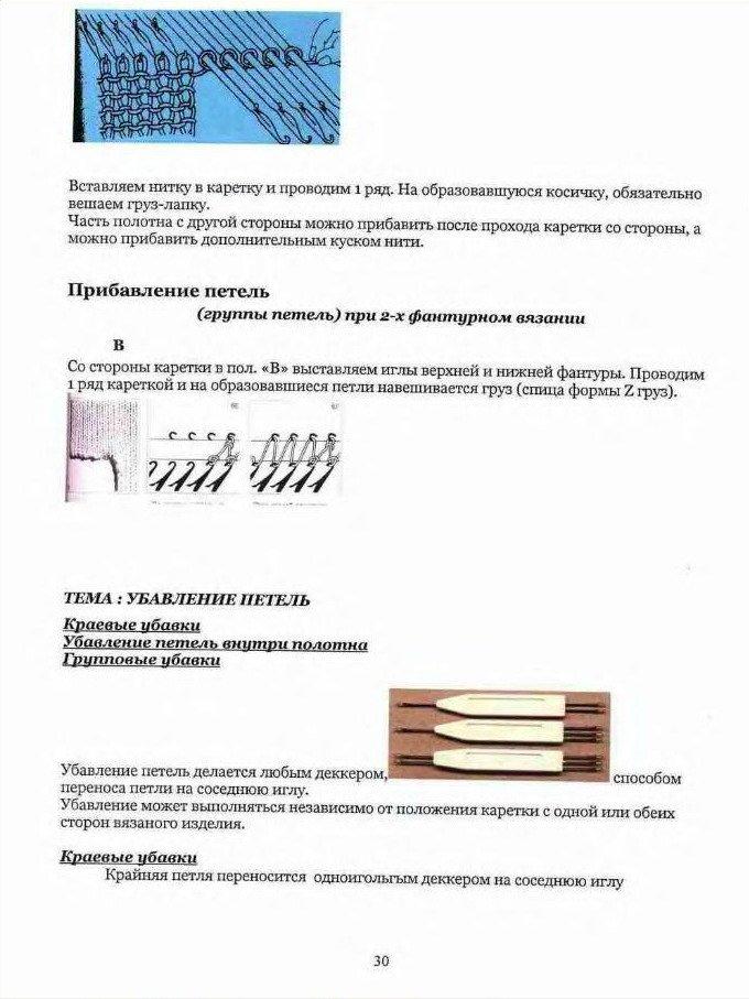 Начальный курс по обучению вязания на вязальной машине SILVER REED   585e28c1c451
