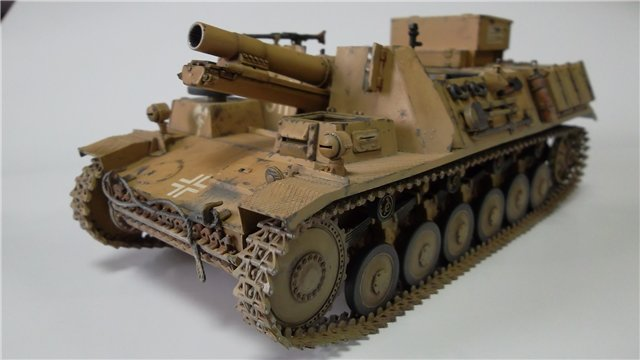 15 cm sIG auf Fahrgestell Pz II или Sturmpanzer II, 1/35, (ARK 35012) 5fe1470dd03d