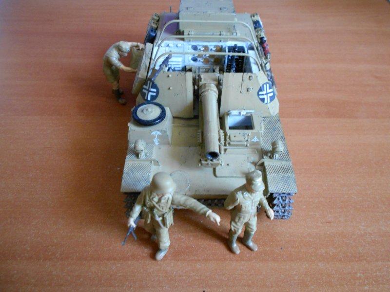 Немецкое 150-мм самоходное орудие Штурмпанцер II 1/35 (Арк модел) 705620b5e1dc