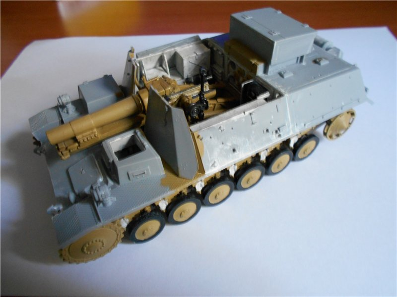 Немецкое 150-мм самоходное орудие Штурмпанцер II 1/35 (Арк модел) C9d2778f4dd4