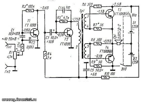 Схемотехника УНЧ на транзисторах 88fba262db41