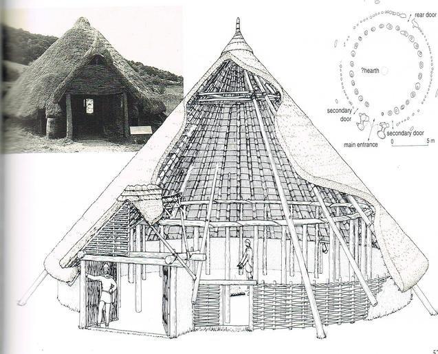 Реконструкция жилища кельтов, 5 в.до н.э (круглый дом), масштаб 1:100 (МОЯ ПЕРВАЯ РЕКОНСТРУКЦИЯ) 88946451f0a0