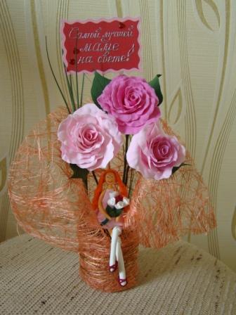 Цветы ручной работы из полимерной глины - Страница 2 B9ce1a0f1692