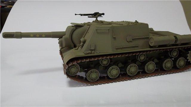 """ИСУ-152 """"Зверобой"""", 1/35, (Звезда 3532) перекраска старой модели. 6ca5ec14b62d"""