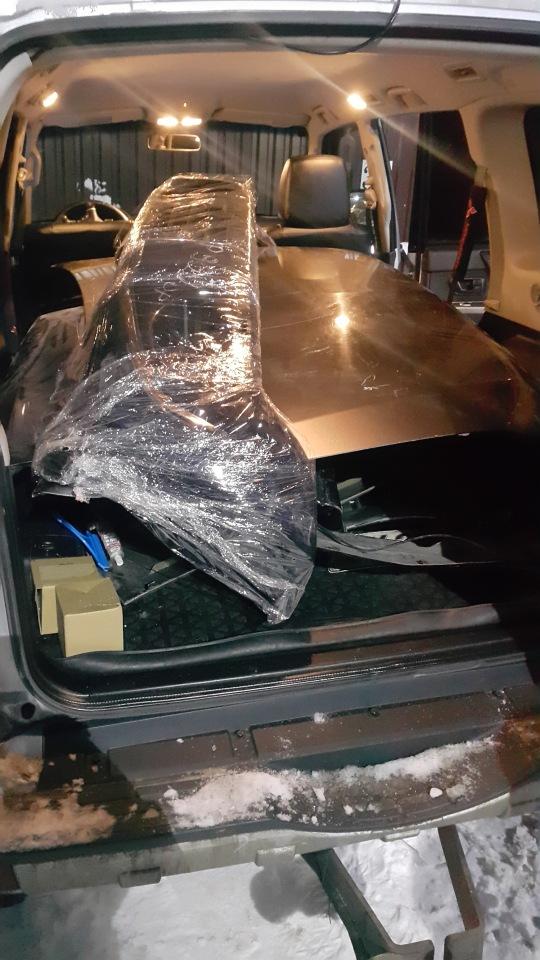 Ремонт Pajero 4 2012 рестайлинг после ДТП B60501bb5f02