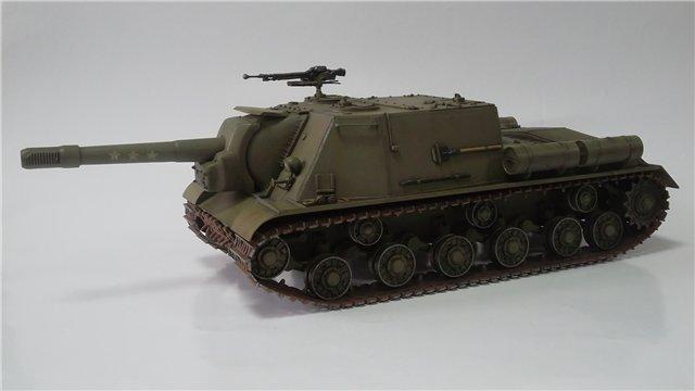 """ИСУ-152 """"Зверобой"""", 1/35, (Звезда 3532) перекраска старой модели. C5c02ca581c6"""