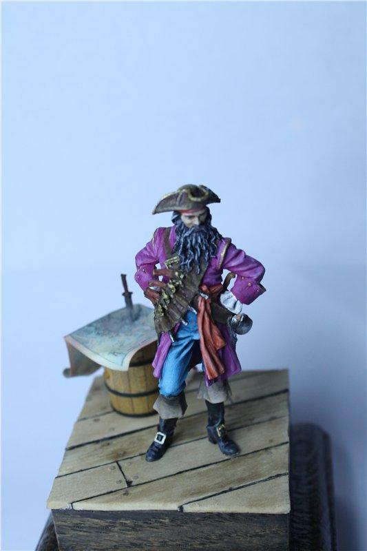 Пират Черная Борода пластик от ПРАПОРА 54мм 91a978f12fd6