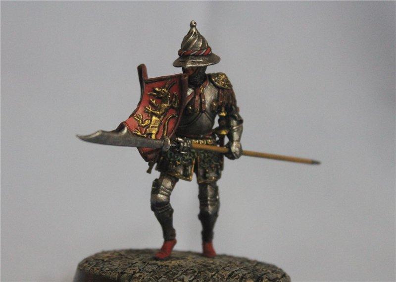Бургундский рыцарь в миланском доспехе, 15 век.  Автор: Дмитрий Фурсов, г. Тамбов. F264c6a74b96