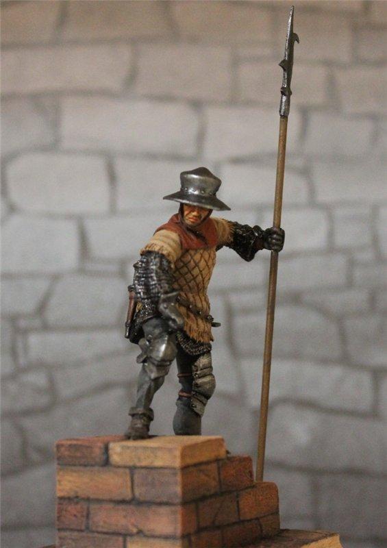 Солдат гарнизона стражи,Англия,15 век. Автор: Дмитрий Фурсов, г. Тамбов. 8fb1de1c64c7