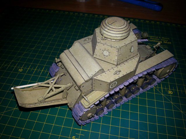 Т-18 (МС-1) Бумажное моделирование №45 E8dc96b4d23f