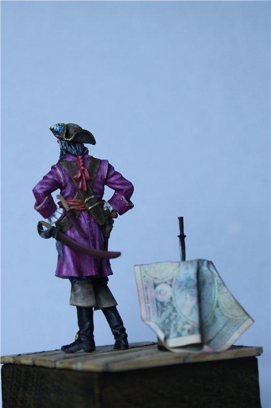 Пират Черная Борода пластик от ПРАПОРА 54мм 306bd98ef8a5