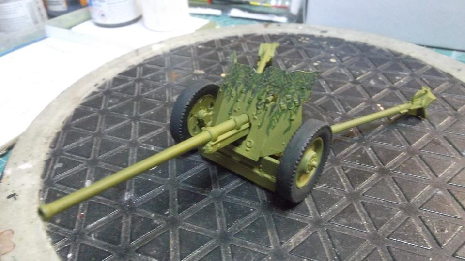 45-мм противотанковая пушка обр.1937 г., 1/35, (Алангер 035101). D8424a384ec6