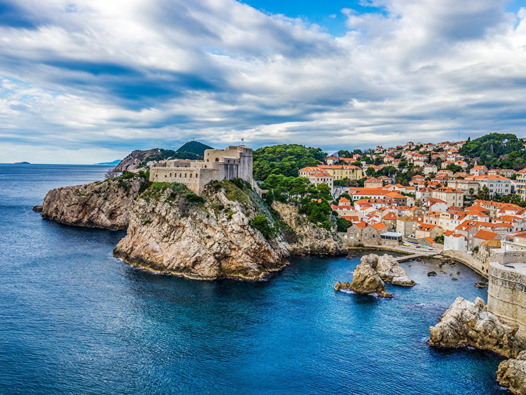 Los acantilados más espectaculares del planeta  Croatia_Coast_Houses_Castles_Dubrovnik_Crag_553910_1024x768