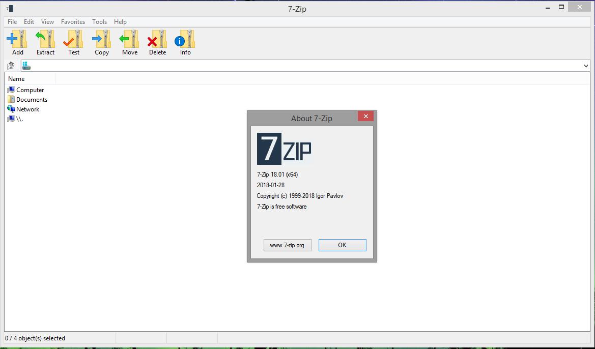 7-Zip 19.00 (32/64 bit) Desatendido  Multilingual 2171522windows_10_theme