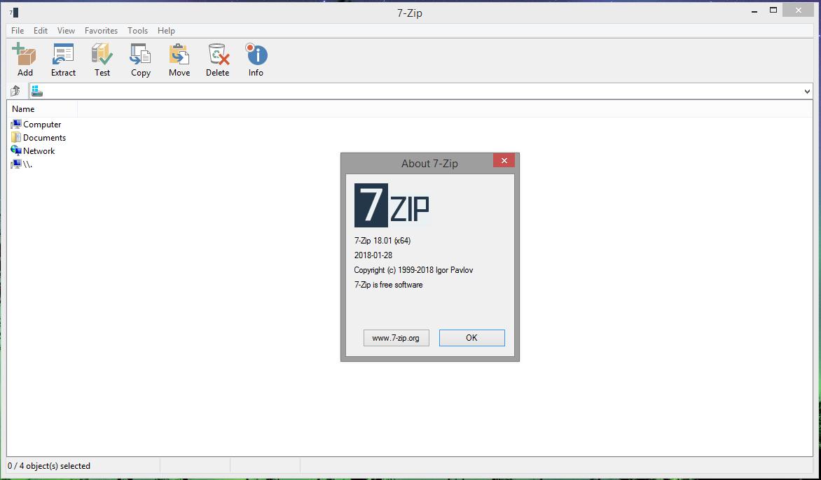 7-Zip 19.00 (32/64 bit) Desatendido  Multilingual 9000030Glyfz_2016_theme