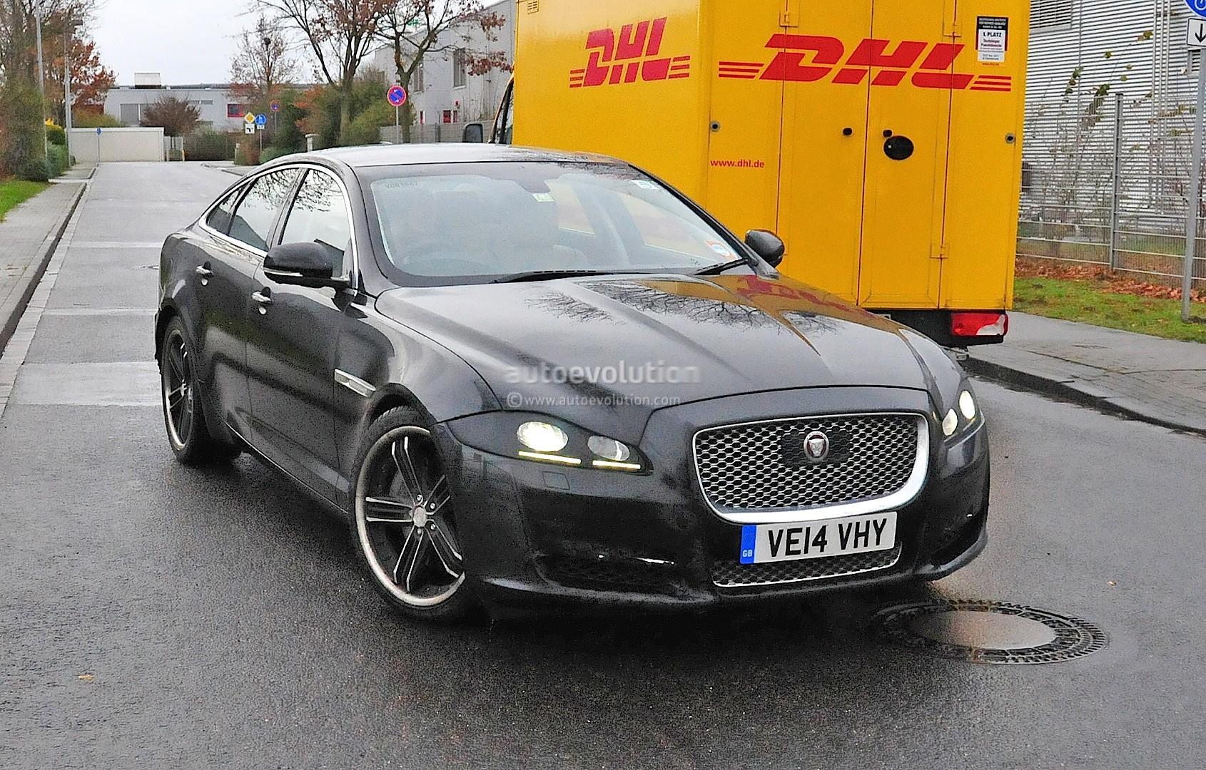 2015 - [Jaguar] XJ Restylée - Page 2 2015-jaguar-xj-facelift-spied-almost-camo-free-photo-gallery_2