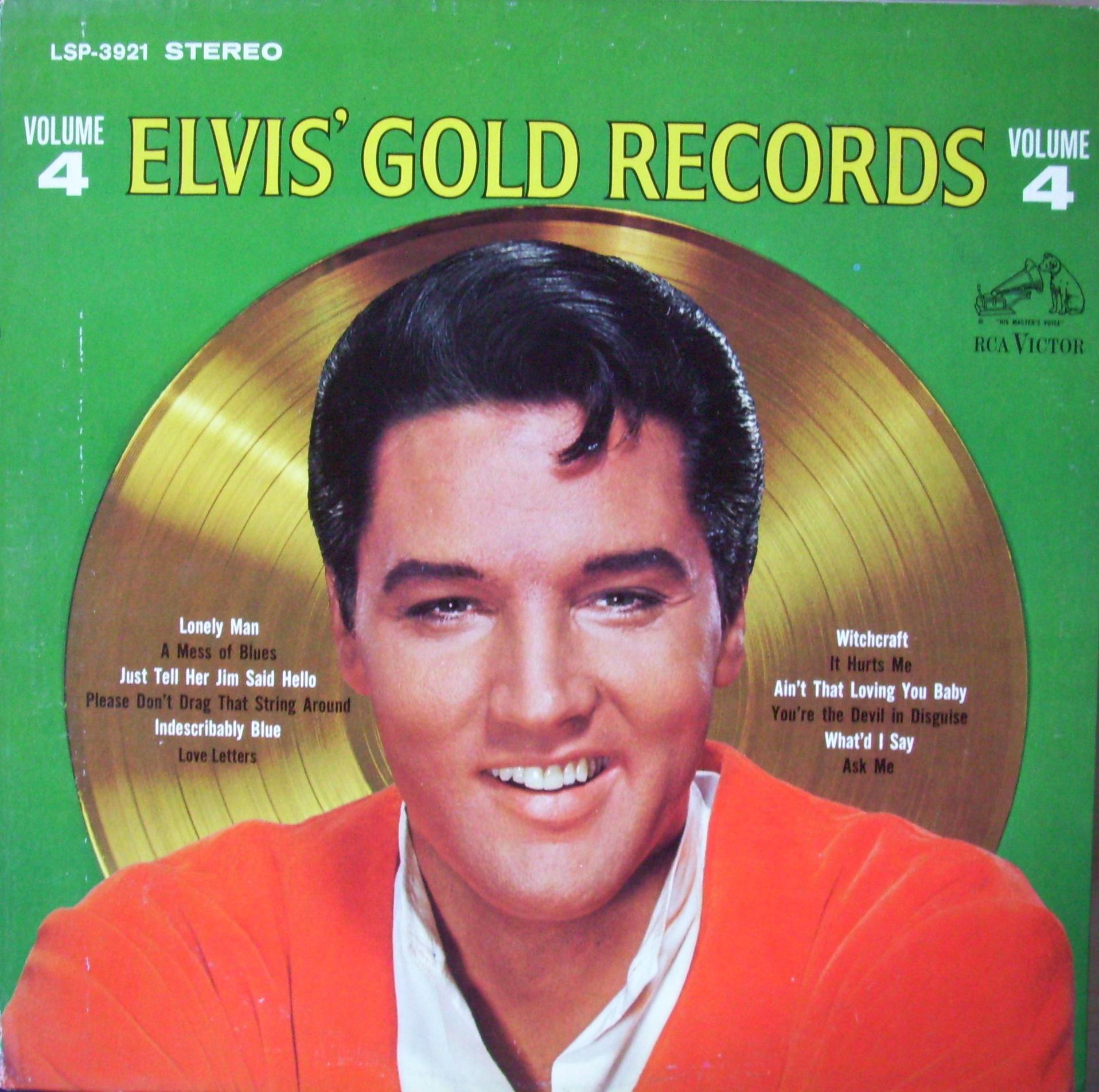 ELVIS' GOLD RECORDS VOL 4 Dwkksyol