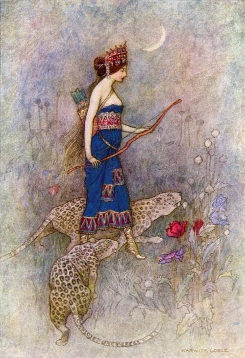 Erase  una vez :  EL RINCÓN  DE  LAS  PRINCESAS...(fantasia) ღϠ₡ღ✻ (¯`✻´¯) `*.¸.*✻ - Página 7 Antique-art-bow-and-arrow-fairy-tale-illustration-Favim.com-174807