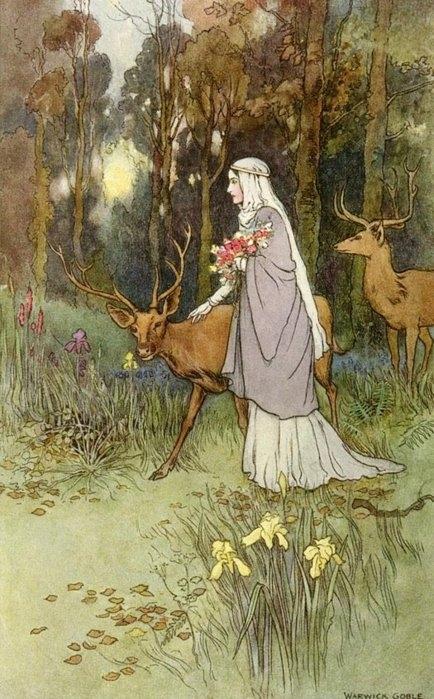 Erase  una vez :  EL RINCÓN  DE  LAS  PRINCESAS...(fantasia) ღϠ₡ღ✻ (¯`✻´¯) `*.¸.*✻ - Página 7 Antique-antlers-art-deer-fairy-tale-Favim.com-145966