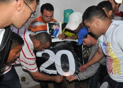 """اعتقال """"الحاقد"""".. فنّان من 20 فبراير أمام القضاء بتهمة الاعتداء 20fevbalelaph_124554054"""