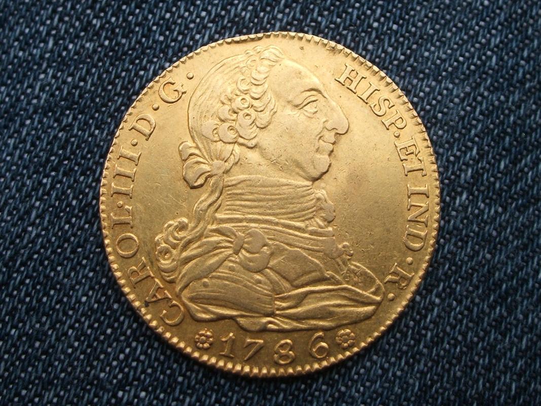 4 escudos 1786. Carlos III. Madrid. 012