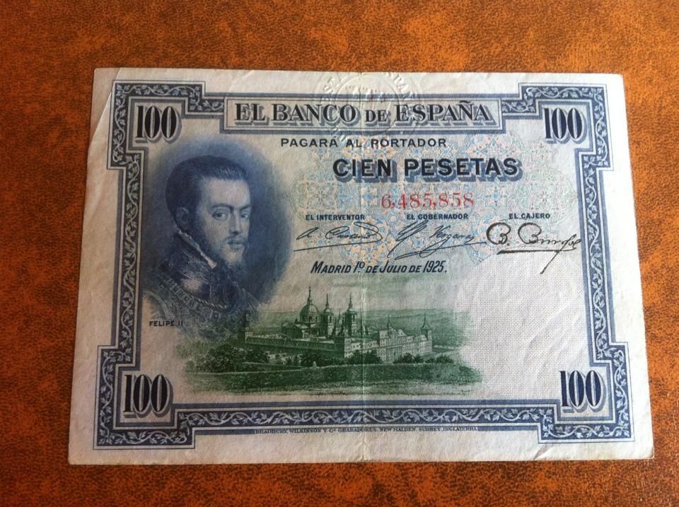 100 pesetas 1925 con doble sello seco (República - Estado Español) 4766bb7f_c824_4aff_91e3_925cbdb1bd0e
