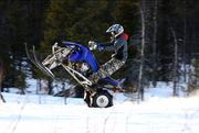 Skidor på en quad ATV H1TIA