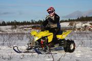 Skidor på en quad ATV H1sh0