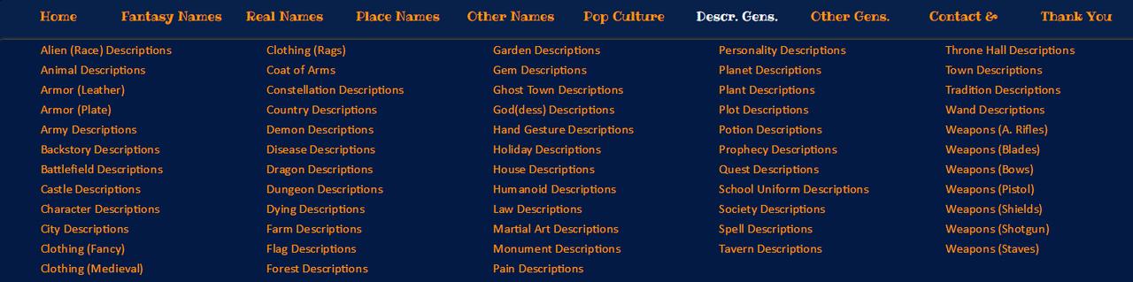 Gerador de nomes (Inglês) + Músicas gratuitas para o seu projeto Gerador_de_Descri_es