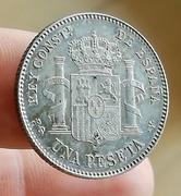 1 peseta de Alfonso XIII 1896 PGV. Opinión estado conservación  IMG_5081