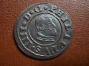 16 Maravedís de Felipe IV, de Cuenca, 1664. DSCN1884