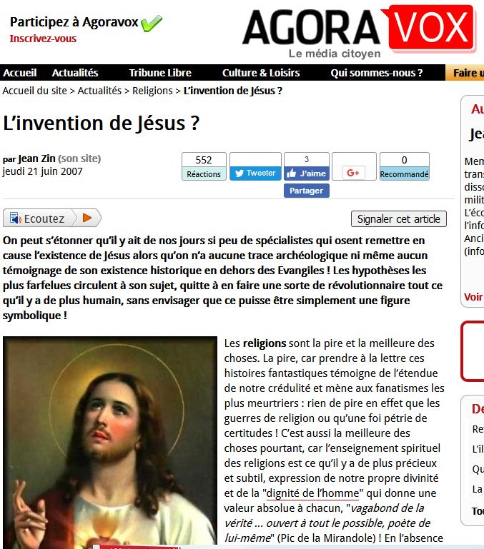 Jésus n'a jamais existé:UN MYTHE Ssssssss