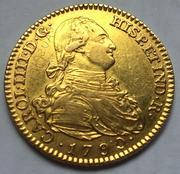 """2 escudos 1790 Carlos IIII Madrid dedit """"a los que me enseñaron todo lo que se"""" gracias  IMG_8273.jpg_rectificacion_de_cu_o_2"""