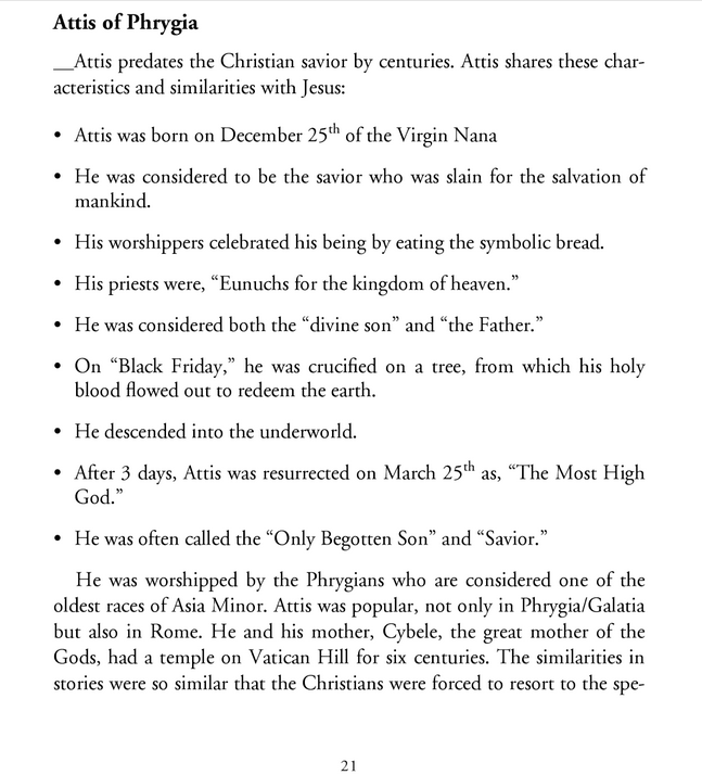 Jésus et Attis  Image
