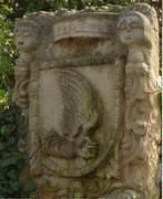Maravedi de Enrique IV de Castilla 1454-1474 Villalon de campos. Escudo_de_la_Villa_del_Al_n_Villal_n