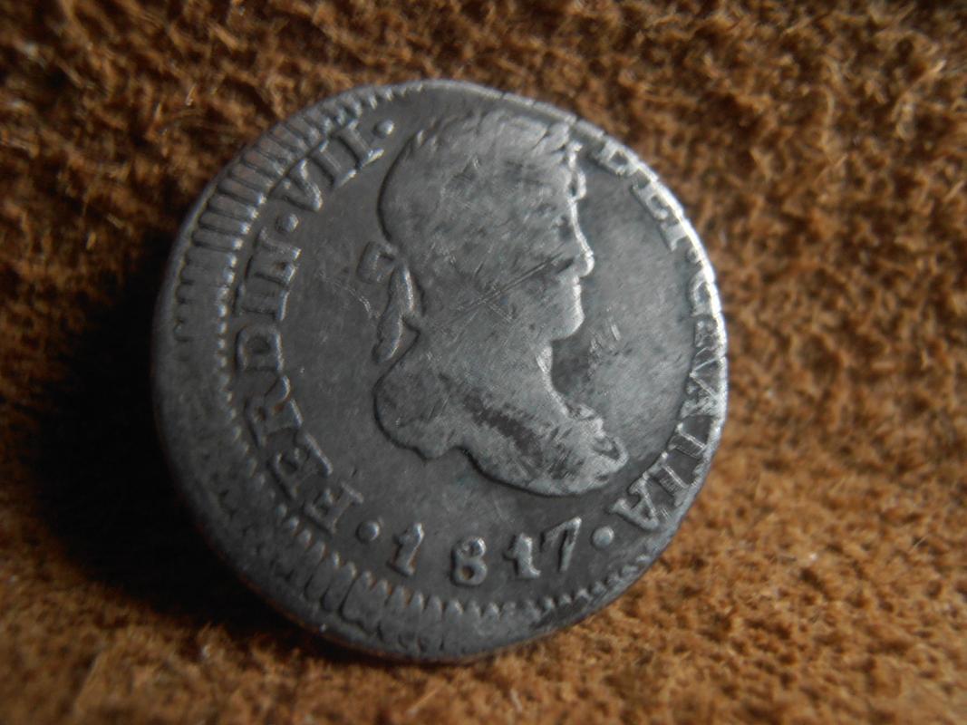 1/2 Real 1817. Fernando VII. Guatemala. NG P9080001
