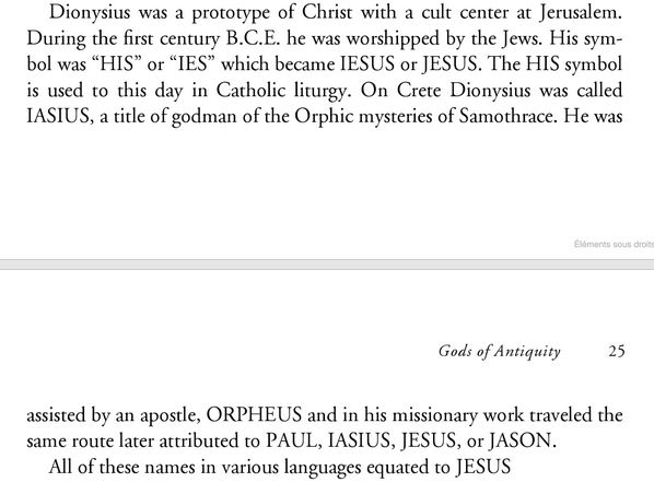 Jésus et Dionysus Image