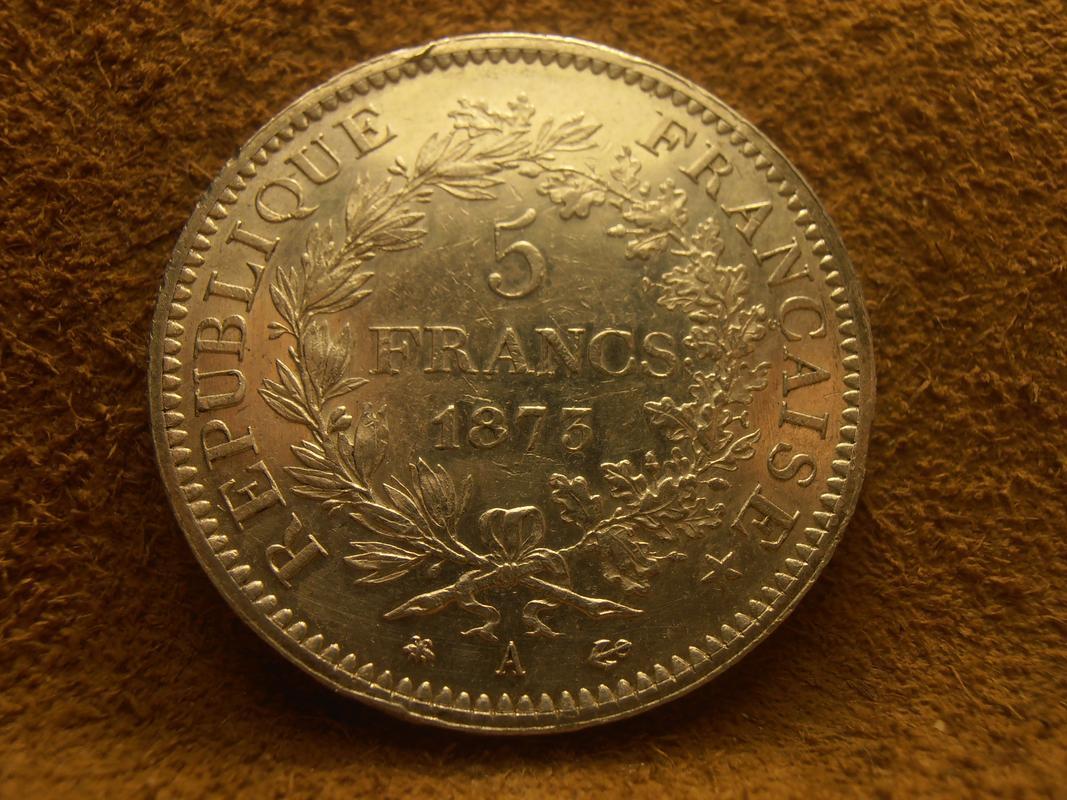 5 Francos 1873 A (Hércules) FRANCIA  PA210006