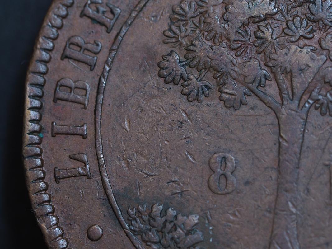 Honduras,moneda provisional de 8 pesos,1862. 1-5