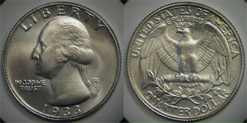 ¿Existe el QUARTER DOLLAR WASHINGTON del año 1933? Mm_25_1933_1